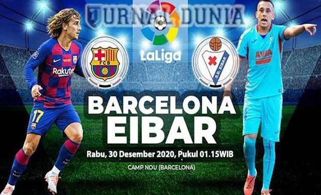 Prediksi Barcelona vs Eibar , Rabu 30 Desember 2020 Pukul 01.15WIB