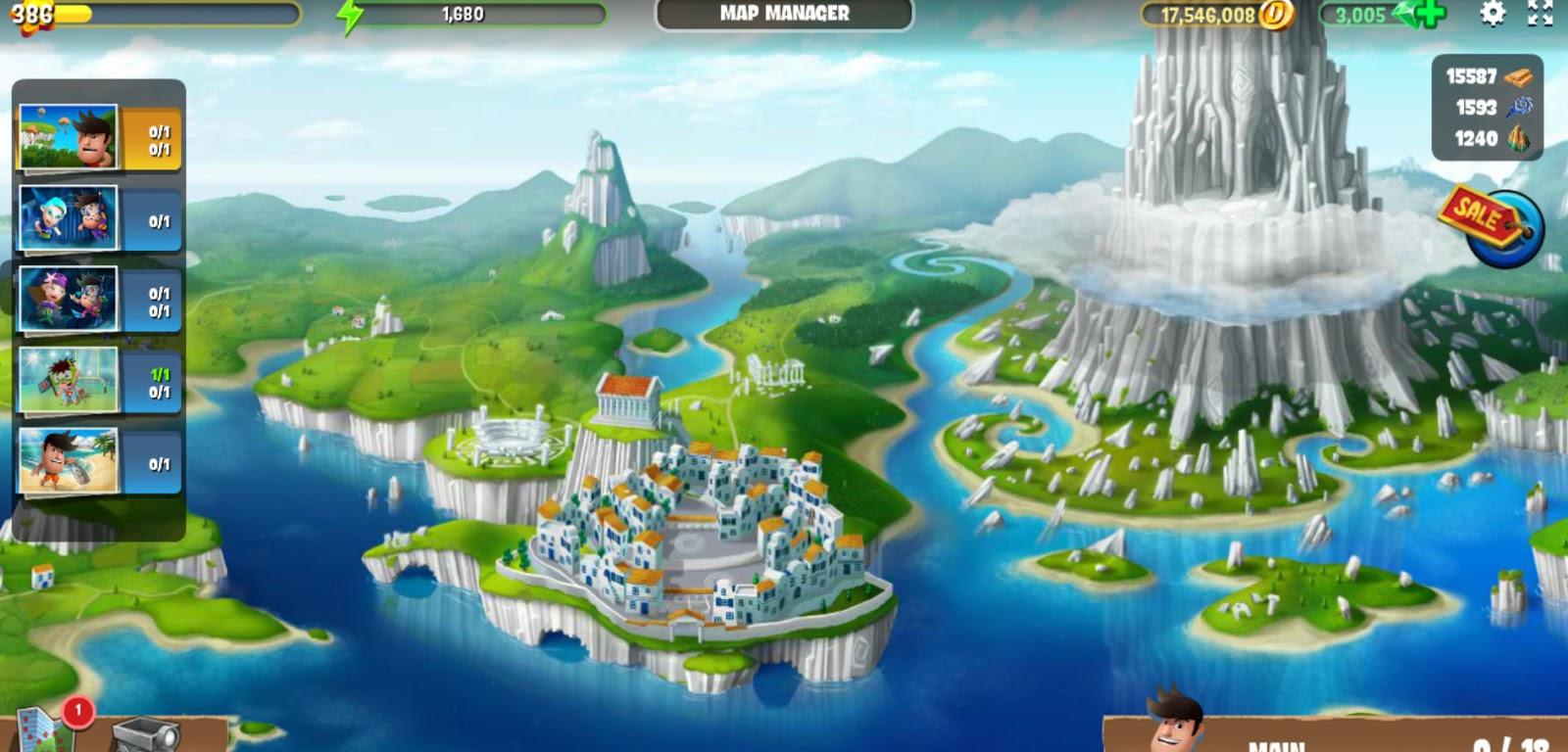 Diggy's Adventure Greece base map
