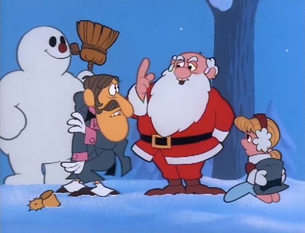 Santa with the others in Frosty the Snowman 1969 animatedfilmreviews.filminspector.com