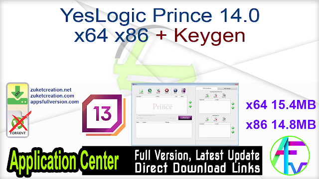 YesLogic Prince 14.0 x64 x86 + Keygen
