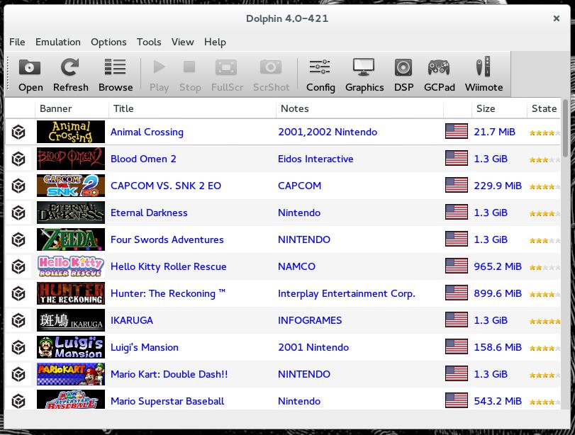 Jeremy Wininger: Dolphin Wii & Gamecube Emulator for Fedora