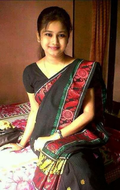 cute single assamese girl saraswati puja assam