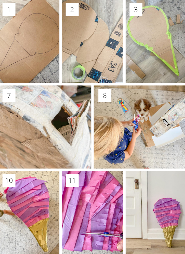 Easy DIY Piñata - Made with Up-Cycled Materials Found at Home!