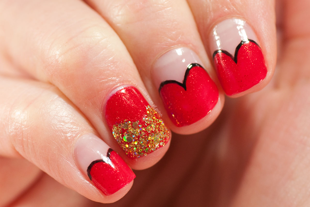 Red Valentine's Day Manicure with OPI The Spy Who Loved Me
