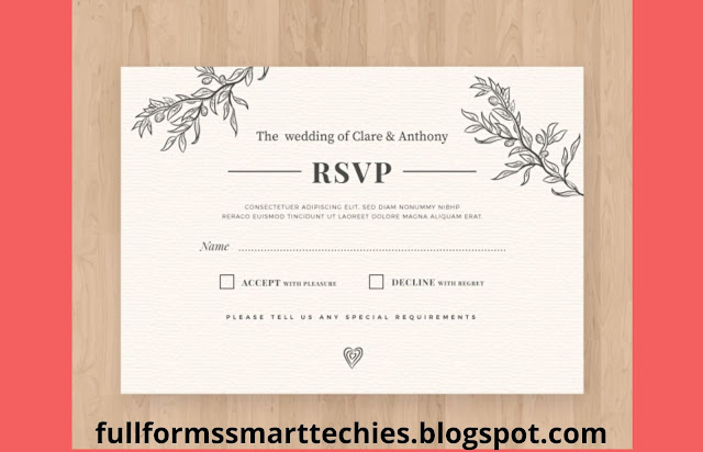 What does RSVP mean on an Invitation Card