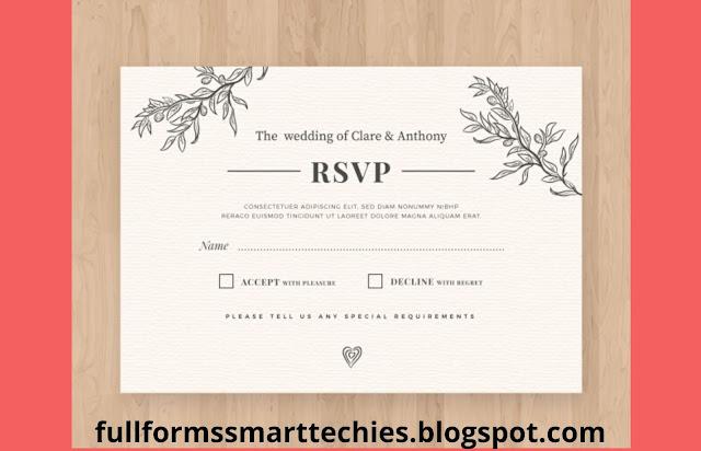 RSVP full form pronunciation