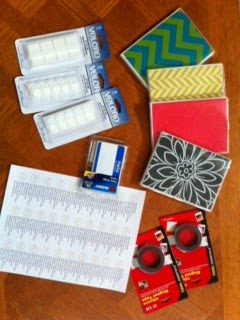 dollar tree classroom supplies, Photo albums, velcro, magnetic tape