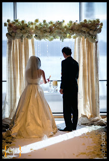 wedding ceremony flowers, cream and blush wedding flowers