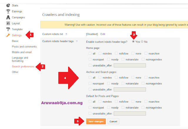 Here is Custom Robots Header Tags Settings For Blogspot Blogs.