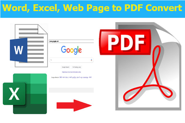 word-excel-web page to pdf