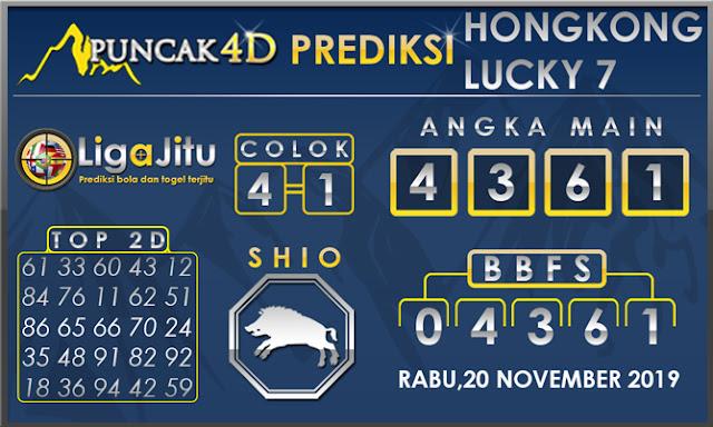 PREDIKSI TOGEL HONGKONG LUCKY7 PUNCAK4D 20 NOVEMBER 2019