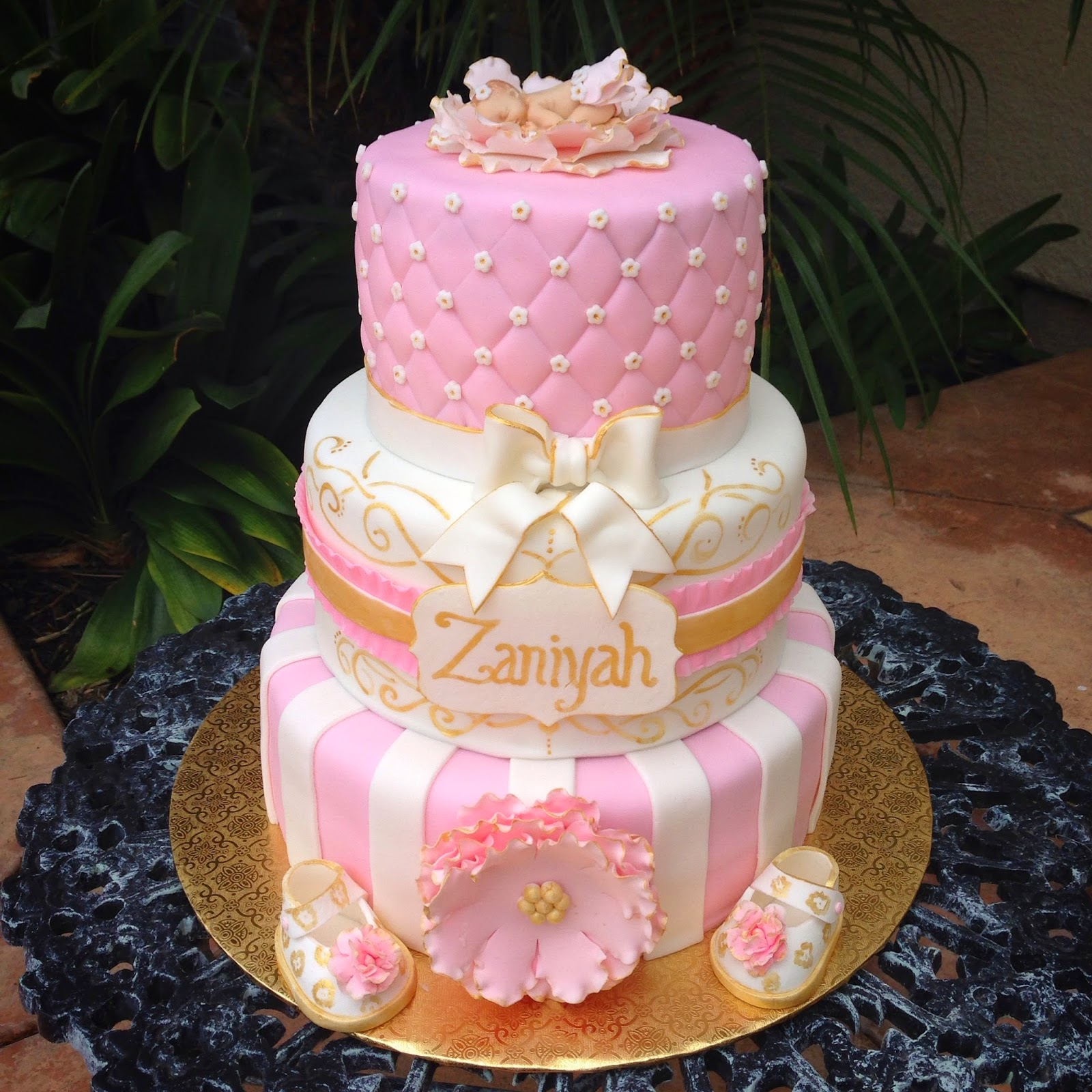 Pink Cake For Baby Girl