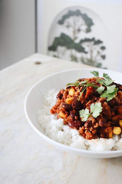 chili con soya vegan