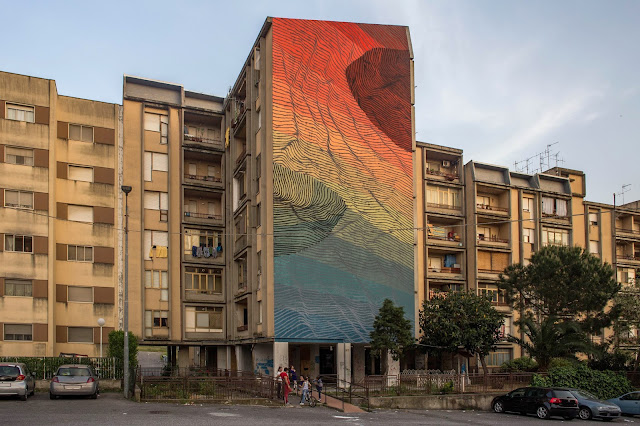 The Altrove Street Art Festival recently took place in the city of Catanzaro, the capital of the Calabria region and of its province. This year's theme was Abstractism which gave the artists an opportunity to reinterpret their surrounding using abstract techniques and imagery.