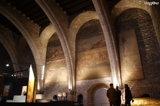 Salon de Tinell all'interno del MUHBA nel Barrì Gotic