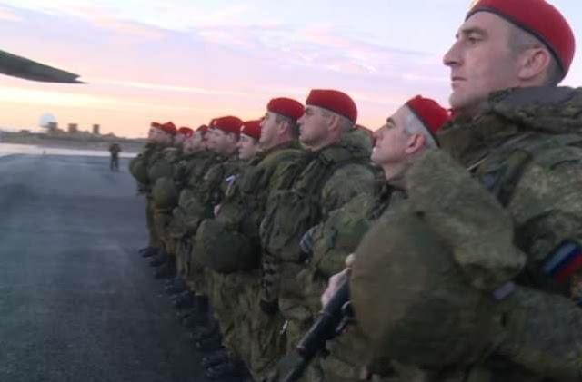 150 من عناصر الشرطة العسكرية الروسية تعود من سوريا.