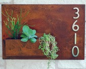 Wall planter vertical garden house home number