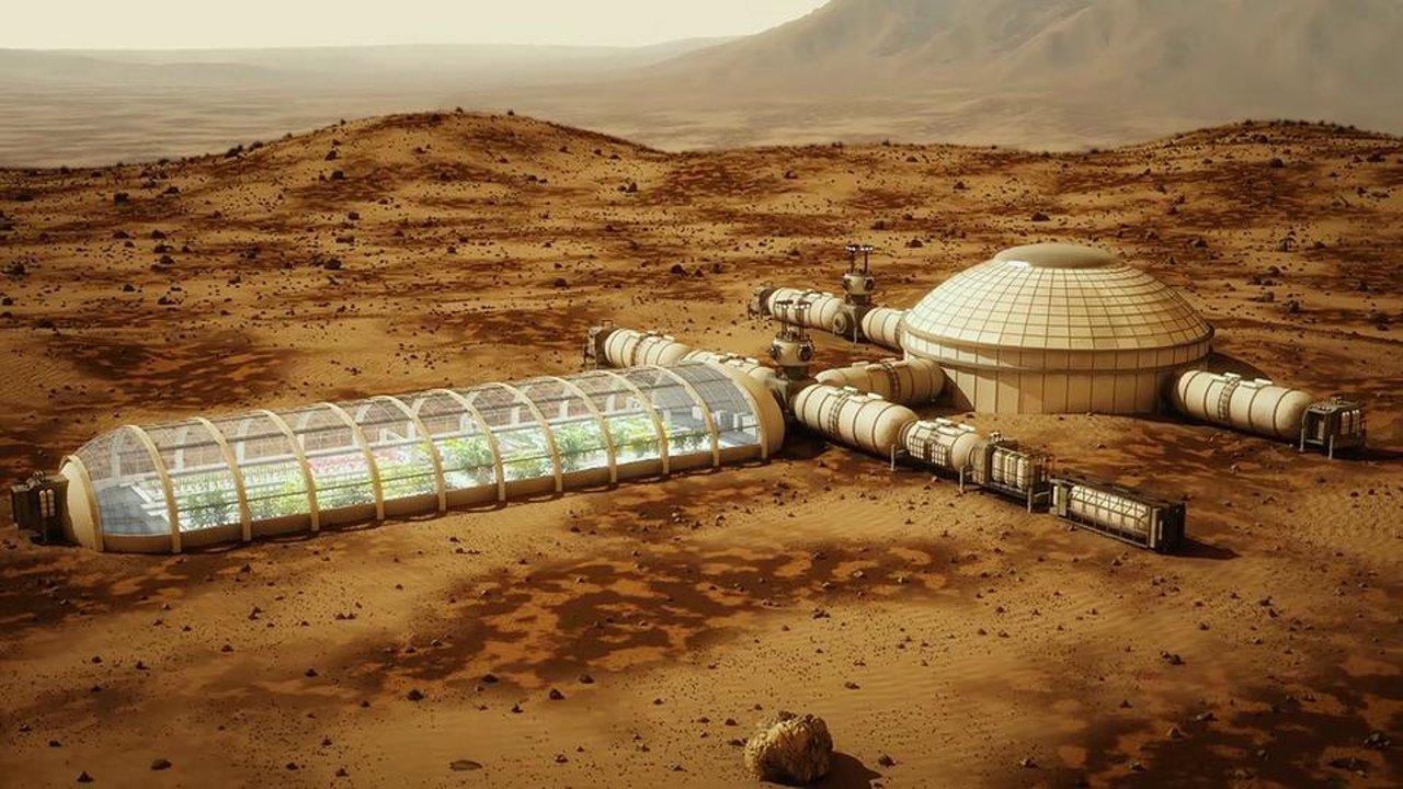 uma colônia em Marte
