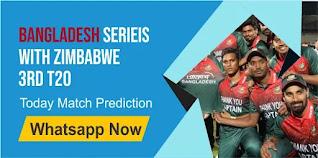 Bangladesh Series With Zimbabwe T20, Match 3rd: Ban vs Zim Today cricket match prediction 100 sure