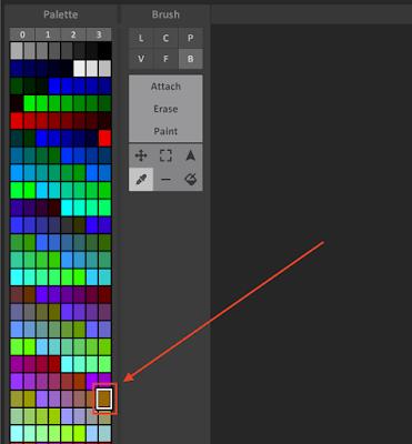 MagicaVoxel Color Palette