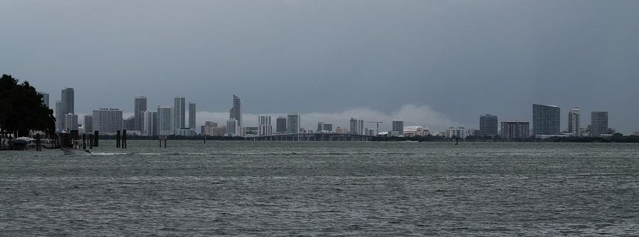 La bahía de Biscayne vista desde Normandy Island