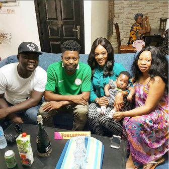 comedian basketmout and wife with seyi law and family