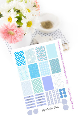 Free Happy Planner Blue Planner Stickers