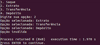 Instrução switch case em C++