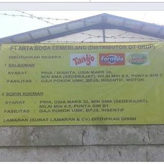 Karir Lowongan Kerja PT Arta Boga Cemerlang Bandung Terupdate 2019
