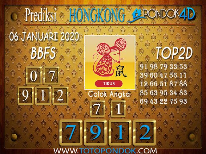 Prediksi Togel HONGKONG PONDOK4D 06 JANUARI 2020