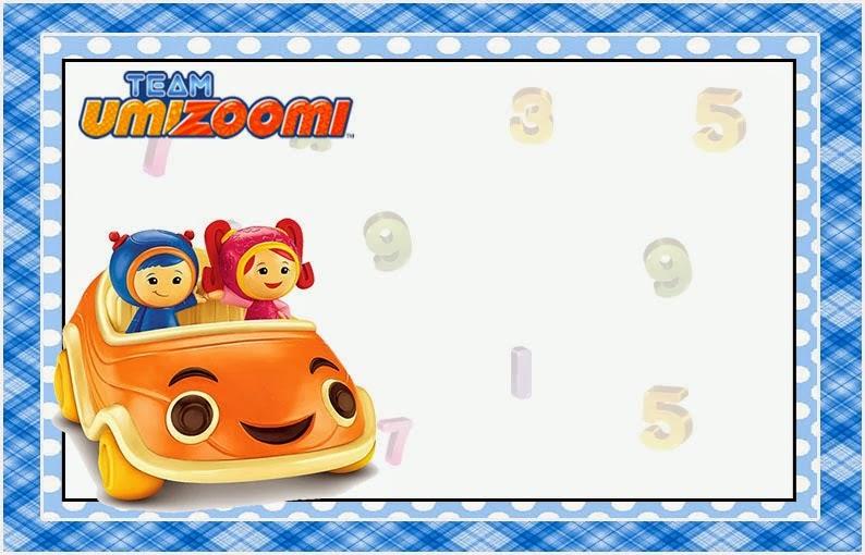 Para hacer invitaciones, tarjetas, marcos de fotos o etiquetas, para imprimir gratis de  Umizoomi.