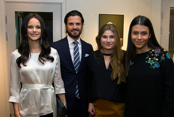 Sofia Hellqvist Style. Princess Sofia wore AHLVAR Hisako Blouse. Prince Carl Philip and Sofia attended the launch