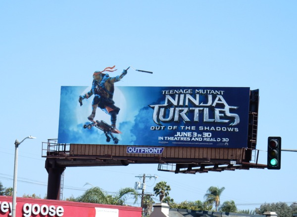 Ninja Turtles Out of the Shadows billboard