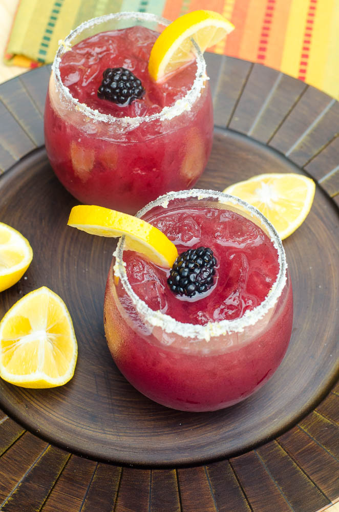 BLACKBERRY LEMONADE MARGARITAS #margaritas #drink