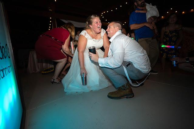 Funny dancing Bride and Groom Magnolia Manor Wedding Photos by Stuart Wedding Photographer Heather Houghton Photography