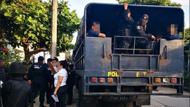 Detienen a 100 policías mexicanos por acusaciones de tortura y homicidio en un municipio de Chiapas
