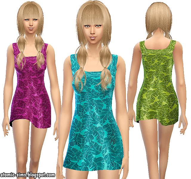 Bonprix palm dress by Atomic-sims