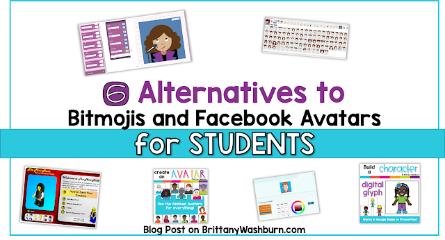 So your students want to make a Bitmoji or Facebook Avatar but they're too young or it isn't school appropriate? This list of alternative options for building digital characters is the solution, and some of them are even educational!