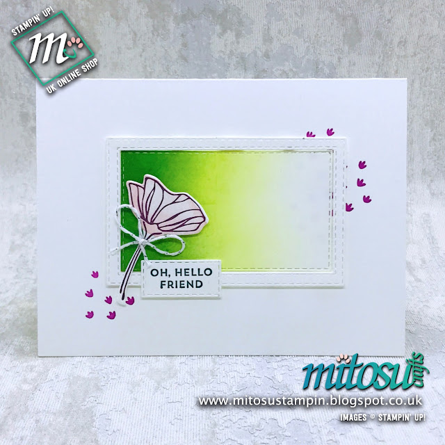 Oh So Eclectic Stampin' Up! Card Idea. Order cardmaking products from Mitosu Crafts UK online shop 24/7