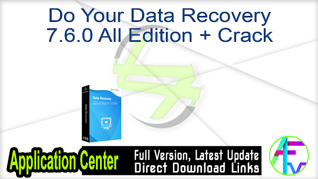 Do Your Data Recovery 7.6.0 All Edition + Crack