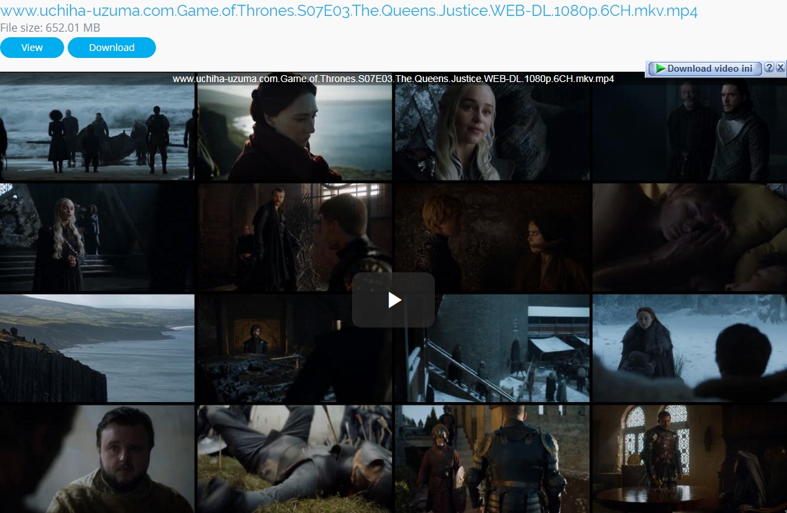 Screenshots Game Of Thrones Season 07 Episode 03 The Queen Justice (2017) WEB-DL 1080p 6CH 720p 480p 360p MKV MP4 Subtitle English - Indonesia