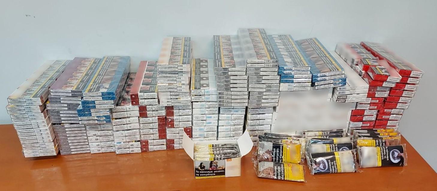 Ροδόπη: Πάνω από 2.000 λαθραία πακέτα τσιγάρων