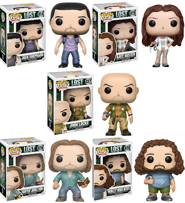 "LOST Pop! Vinyl Figures Wave 1 by Funko - Jack Shephard, Kate Austen, James ""Sawyer"" Ford, John Locke & Hugo ""Hurley"" Reyes"