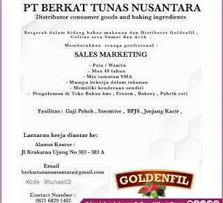 Lowongan Kerja SMA SMK Medan PT Berkat Lunas Nusantara November 2020