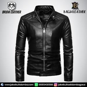 Jual Jaket Kulit Asli Garut Pria Domba Original Brida Leather B37   WA 08813430588
