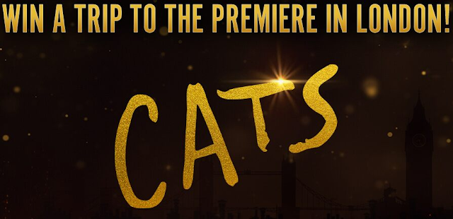 Fandango wants you to enter once for the chance of a lifetime to win a trip to attend the world wide premiere of CATS in London, England!