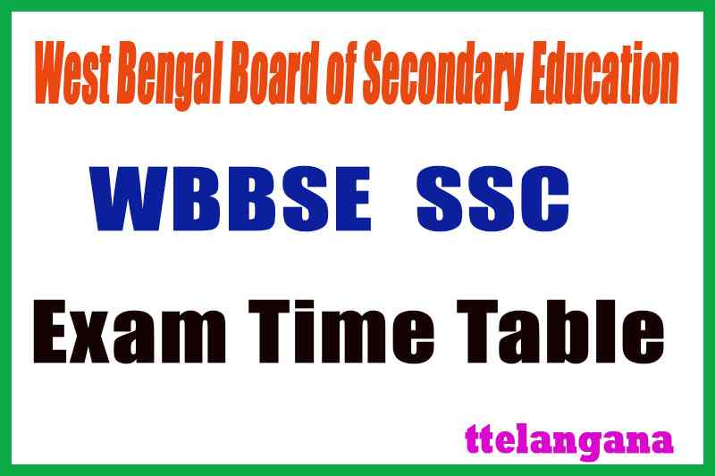 WB 10th Time Table