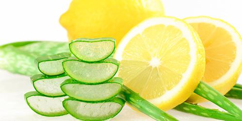 Crema casera de aloe vera y limón para manchas