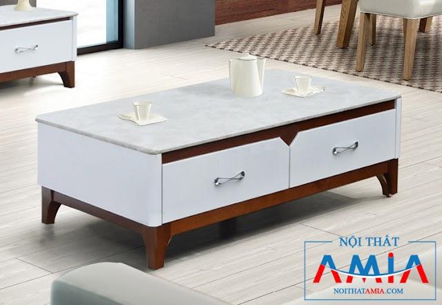 Mẫu bàn trà nhập khẩu có mặt đá đẹp Amia 170