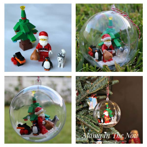 How to make a LEGO christmas minifig ball ornament